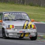 Hebette et sa Supercinq GT turbo Groupe A. Assurément l'équipage le plus rapide du week-end.