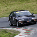 Pascal Delavenne disputait ici sa première manche en GTI Cup au volant d'une Honda Civic 1.6i VT.