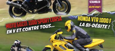 Moto Guzzi 1100 Sport, Yamaha 600 Ténéré, Mobylette AV 48, Honda VTR 1000 F, BSA A65 Firebird Scrambler, Yamaha XSR 700 Xtribute