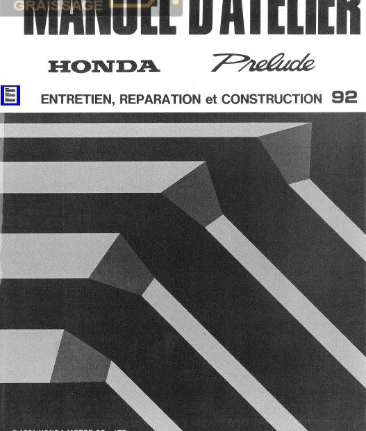 manuels d'atelier français  Honda Civic Prelude  Integra