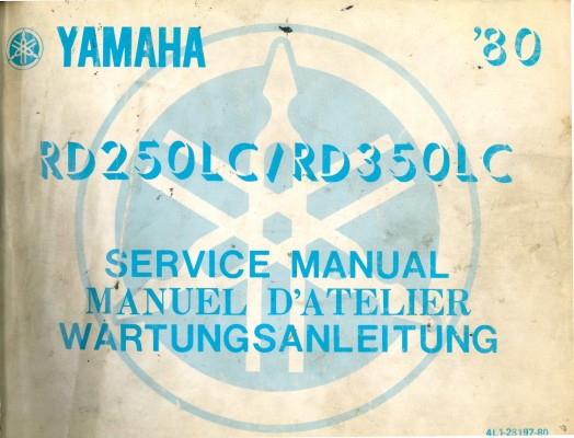 Manuel d'atelier Yamaha vintage