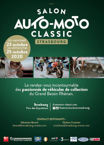 Auto-Moto Classic de Strasbourg : du 23 au 25 octobre 2020 !