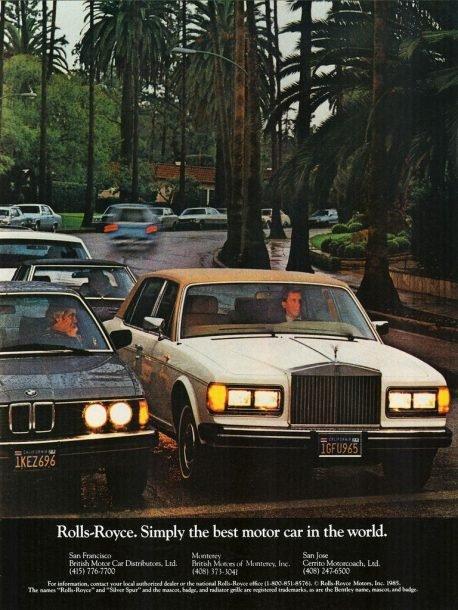 Un jour, des voitures: Rolls-Royce Silver Spirit et Spur